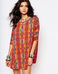 Noisy May Festival Print Tunic Dress Multi