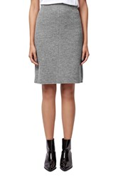 Topshop Boiled Wool A Line Skirt Grey