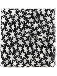 Saint Laurent Star Print Scarf Nude And Neutrals