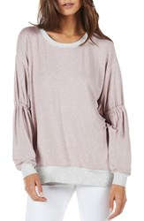 Michael Stars Gathered Sleeve Sweatshirt Rose Perla