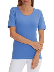 Betty Barclay Short Sleeve T Shirt Blue Bonnet