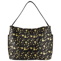 Collection Weekend By John Lewis Star Print Tote Black Gold