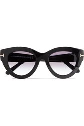 Tom Ford Slater Cat Eye Acetate Sunglasses Black