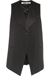 Mcq By Alexander Mcqueen Satin Trimmed Wool Crepe Vest