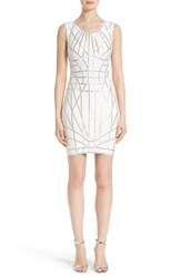 Herve Leger Women's Foil Ribbon Sheath Dress