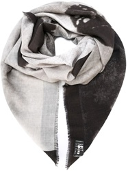 Lost And Found Skeleton Hand Print Scarf Grey