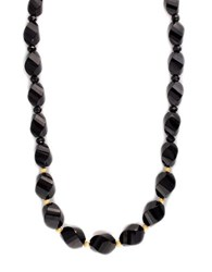 Effy Black Onyx Necklace In 14K Yellow Gold