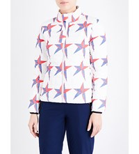 Perfect Moment Mini Duvet Ii Quilted Shell Jacket White Star Print White