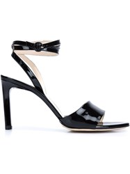 Nina Ricci Wrap Around Ankle Strap Sandals Black