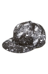 Eleven Paris 'Pight' Print Snapback Cap Moon Marble Black