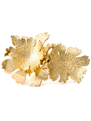 Alexander Mcqueen Cherry Blossom Double Band Ring