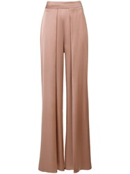 Cushnie Et Ochs Pleated Detail High Rise Trousers Pink Purple
