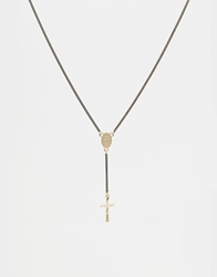 Asos Gothic Rosary Long Necklace Black