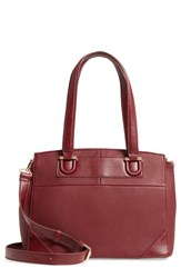 Sole Society Sterling Faux Leather Satchel Red Oxblood