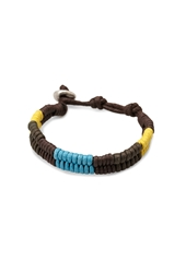 Forever 21 Multicolored Cord Bracelet Brown Yellow