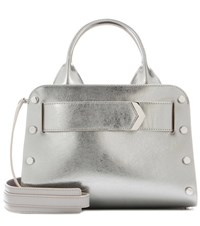 Jimmy Choo Lockett Leather Tote Grey