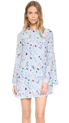 Cynthia Rowley Bell Sleeve Dress Powder Blue