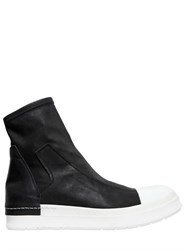 Cinzia Araia 20Mm Stretch Leather Sneaker Boots