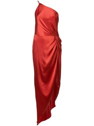 Michelle Mason Twist Knot Gown Red
