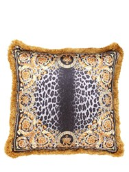 Versace Crown Animalier Silk Accent Pillow Gold