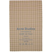 Acne Studios Beige And Pink Check Cassiar Scarf