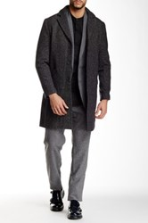 Shades Of Grey Notched Collar Overcoat Gray