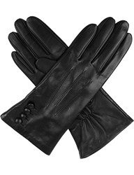 Dents Touchscreen Leather Gloves Black