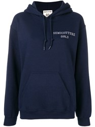 Semicouture Loose Fitted Hoodie Blue