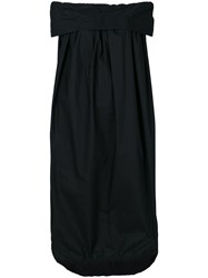 Ter Et Bantine Bardot Panel Dress Cotton Black