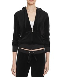 Juicy Couture Black Label Robertson Velour Zip Hoodie 100 Bloomingdale's Exclusive Pitch Black
