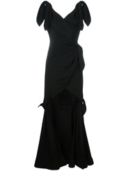 Moschino Tie Detailed Gown Black