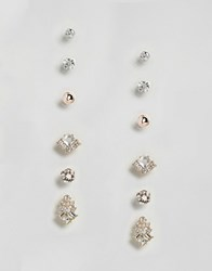 True Decadence Gold Embellished Stud Multi Pack Of Six