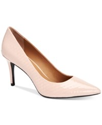 Calvin Klein Women's Gayle Pointed Toe Pumps Women's Shoes Deep Blush Python
