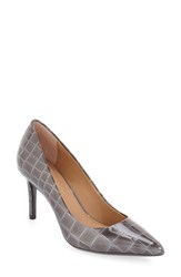 Calvin Klein Women's 'Gayle' Pointy Toe Pump Grey Patent