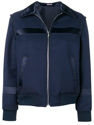 Undercover Navy Fitted Bomber Jacket Blue