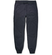 Loro Piana Tapered Cashmere And Silk Blend Sweatpants Blue