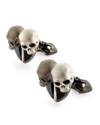 Men's Double Skull Cuff Links Stephen Webster Black
