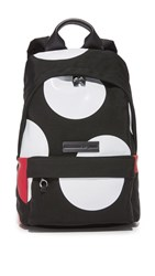 Mcq By Alexander Mcqueen Large Dot Classic Backpack Black White Red