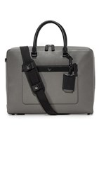 Mcm Markus Leather Briefcase Charcoal