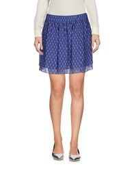 Maison Scotch Mini Skirts Blue