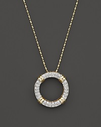 Bloomingdale's Diamond Circle Pendant Necklace In 14K Yellow Gold 1.0 Ct. T.W.