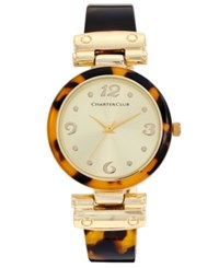 Charter Club Women's Tortoiseshell Look Bracelet Watch 35Mm Only At Macy's Gold