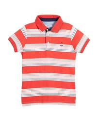 Mayoral Short Sleeve Multi Stripe Polo Size 4 7 Red
