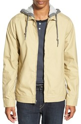 Men's Volcom 'Barnett' Work Jacket With Jersey Hood