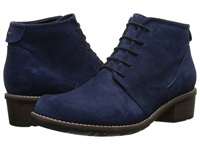 Wolky Erne Blue Greased Suede Women's Lace Up Boots