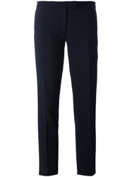Joseph Tailored Cropped Trousers Blue