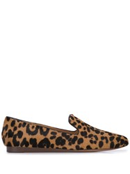 Veronica Beard Leopard Print Loafers Brown