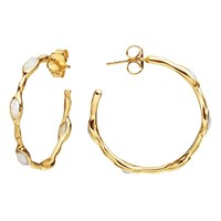 Missoma Molten Magna 18Ct Gold Hoop Earrings Gold