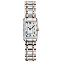 Longines L52585797 Women's Dolce Vita Diamond Bracelet Strap Watch Silver Gold