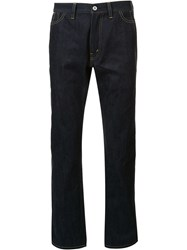 Junya Watanabe Man Varnished Pocket Jeans Blue